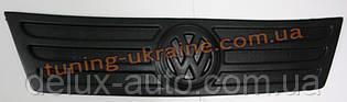 Зимняя накладка (заглушка) на решетку радиатора Volkswagen Caddy (фольксваген кэдди) 2004-2010  верх мат