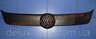 Зимняя накладка (заглушка) на решетку радиатора Volkswagen Caddy (фольксваген кэдди) 2010+ верхняя матовая