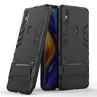 Чехол Hybrid case для Xiaomi Mi Mix 3 бампер с подставкой черный