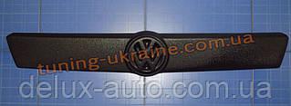 Зимняя накладка (заглушка) на решетку радиатора для Volkswagen T4 1999-2003 верхняя матовый