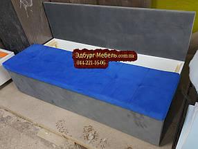 Диван для узкой кухни, коридора с ящиком + спальным местом 1800х550х850мм, фото 3