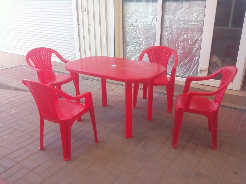 Комплект садовой мебели ЛЮКС! Стол большой + 4 кресла!