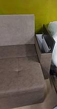 Диван угловой для узкой кухни с ящиком + спальным местом 1800х550х850мм, фото 2