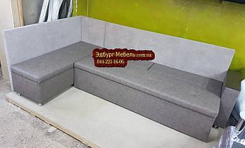 Диван угловой для узкой кухни с ящиком + спальным местом 1800х550х850мм, фото 3
