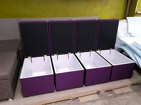 """Пуф """"Королевский"""" с ящиком 600х400мм  ткань рогожка, фото 2"""