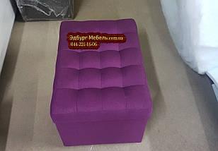 """Пуф """"Королевский"""" с ящиком 600х400мм  ткань рогожка, фото 3"""