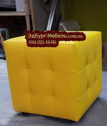 Пуф с прошивкой желтый Квадро, фото 2