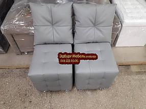 Пуф с прошивкой Квадро с подушками, фото 2