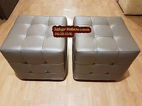Пуф с прошивкой Квадро с подушками, фото 3