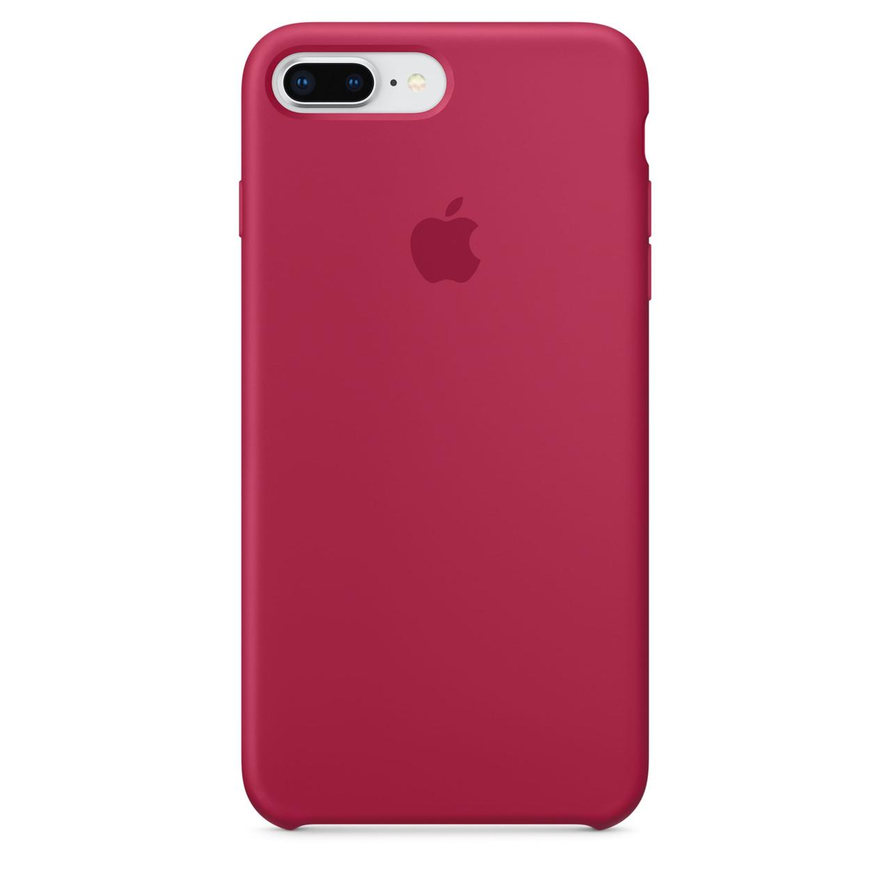 Чехол Apple Silicone Case LUX для iPhone 7 Plus/8 Plus - Rose Red
