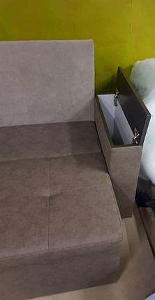 Диван угловой для узкой кухни с ящиком + спальным местом 1800х2400мм, фото 2