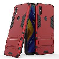 Чехол Hybrid case для Xiaomi Mi Mix 3 бампер с подставкой красный