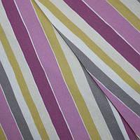 Декор панама полоса кузко фиолет/горчица