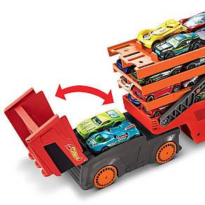 Автовоз Хот Вилс Грузовик-трейлер на 50 машин Hot Wheels Mega Hauler, фото 2