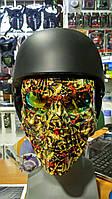 Маска Череп пол-лица  (ABS, PC, р-р регул., цвета в ассортименте)