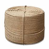 Верёвка (канат) джутовая  крученая д.8мм, фото 3