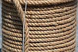 Верёвка (канат) джутовая  крученая д.8мм, фото 4