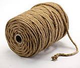 Верёвка (канат) джутовая  крученая д.8мм, фото 6