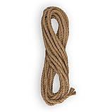 Верёвка (канат) джутовая  крученая д.8мм, фото 8