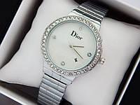 Женские наручные часы Dior серебро с перламутровым циферблатом, код 1478, фото 1