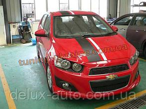 Юбка передняя на Chevrolet Aveo 3 2011+