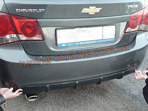 Юбка задняя диффузор на Chevrolet Cruze 2012+ Torneo