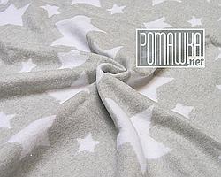 Плотный 100х140 хлопковый байковый флисовый детский плед одеяло для новорожденных малышей детей 4837 Серый