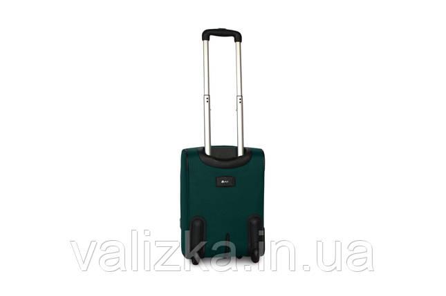 Малый текстильный чемодан для ручной клади на 2-х колесах  Fly - S зеленый, фото 2