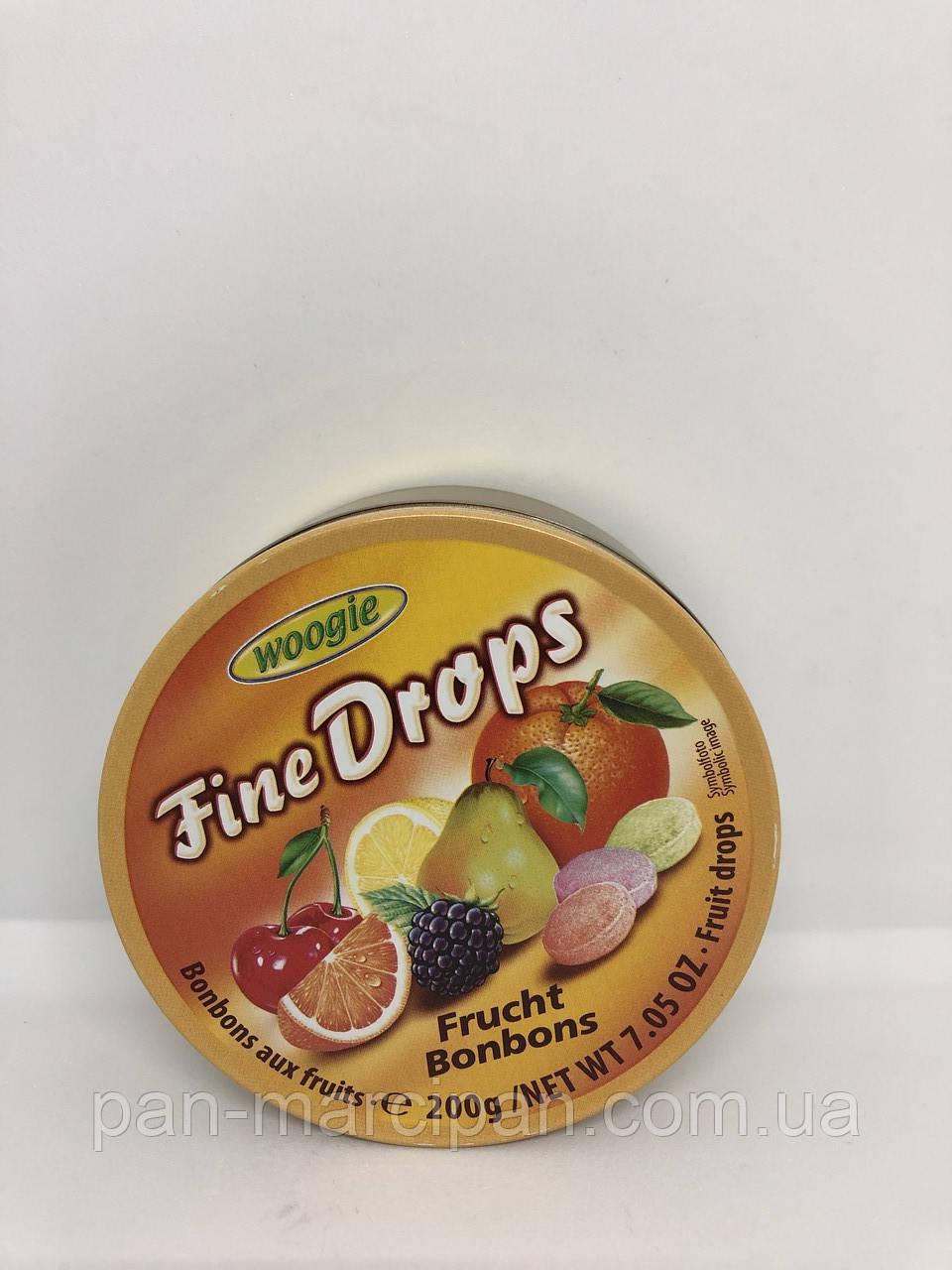 Драже Fine Drops тропічні фрукти 200 гр ж/б