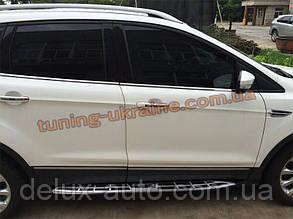 Пороги оригинал в Cayenne Style для Ford Kuga 2013+