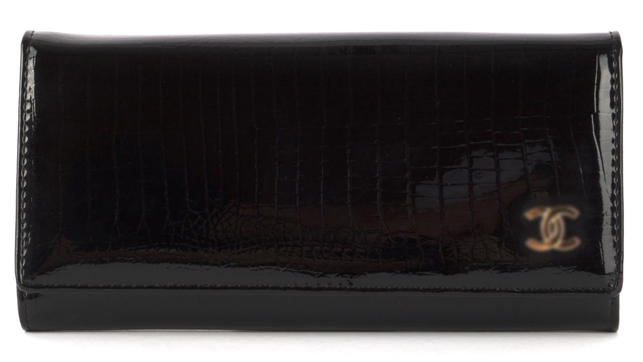 Жіночий шкіряний лаковий якісний гаманець art. P7002