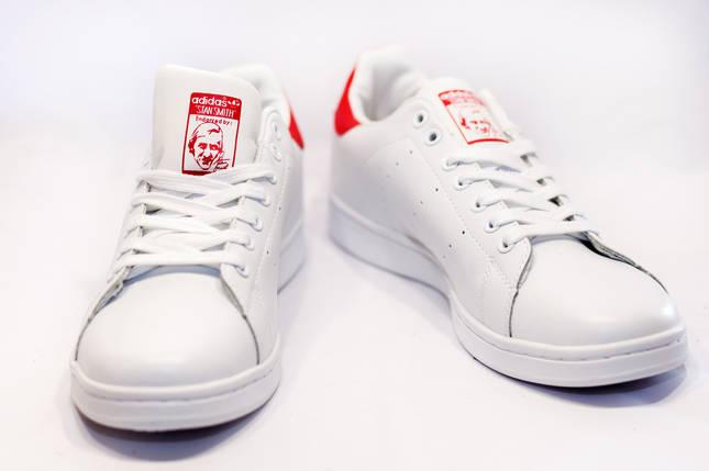 Кроссовки мужские в стиле Adidas Stan Smit белые, фото 2