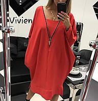 Платье женское повседневное, большого размера, свободное, ровное,  от 48 до 62 размера