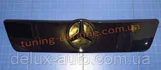 Зимняя заглушка на решетку радиатора на Mercedes Sprinter с 1995-2002 TDI верх глянец