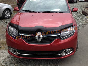 Дефлектор капота (мухобойка) SIM для Dacia Sandero 07+ (Дачиа Сандеро 07+)