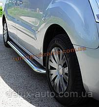Боковые пороги  площадка c листом (нержавеющем) короткая база D60 на Mercedes Sprinter 2006+