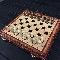 Шахматы и нарды ручной работы, эксклюзивная резьба по дереву, фото 1