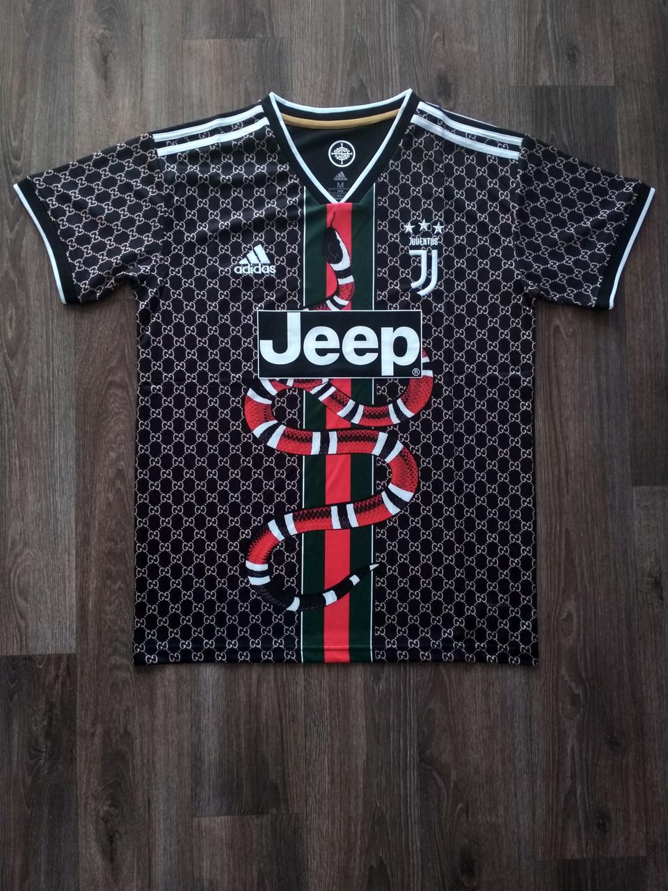 Тренировочная футболка игровая Ювентус 2019-2020 черная-змея