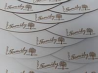 Гравировка логотипа на подложке