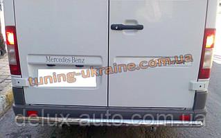 Защита заднего бампера труба прямая D60 на Mercedes Sprinter 2006
