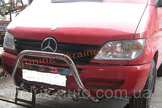Защита переднего бампера кенгурятник с надписью D60 на Mercedes Sprinter 2006