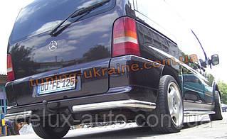 Защита заднего бампера уголки одинарные D60 на  Mercedes Vito 1996-2003