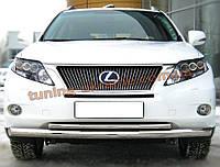 Защита переднего бампера труба двойная D60-42 на Lexus RX-350