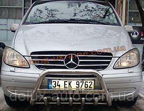 Защита переднего бампера кенгурятник с надписью D60 на Mercedes Vaneo
