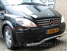 Защита переднего бампера труба изогнутая D60 на Mercedes Vaneo