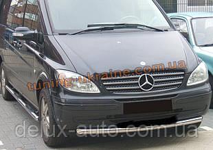 Защита переднего бампера труба одинарная D60 на Mercedes Vaneo