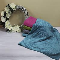 Микрофибровое банное полотенце с узором