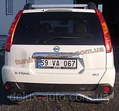 Защита заднего бампера труба с изгибом D60 на Nissan X-Trail (31) 2007-2010
