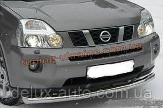 Защита переднего бампера труба одинарная D60 на Nissan X-Trail (31) 2007-2010