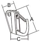Крючок с фиксатором 38 мм., фото 2